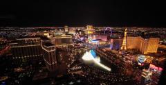 Las Vegas strip WDE vahvistettu ampui 4k yöllä Arkistovideo