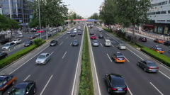 Beijing 3rd ring road at daytime HD Stock Footage