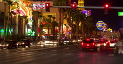 Las Vegas strip night timelapse zoom in 4k constant resolution - stock footage