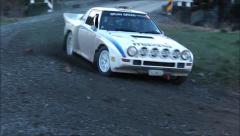 Mazda RX7 rally car. Stock Footage
