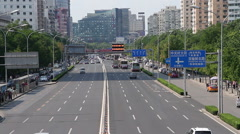 Zhongguancun street at daytime HD Stock Footage