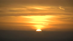California sunset into cloud bank Stock Footage