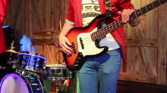 Bass and drums Stock Footage