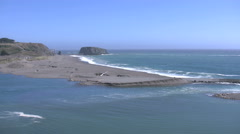 California Russian River Mouth Stock Footage