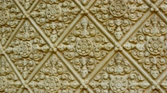 Traditional ornament on a stone wall. cambodia, phnom penh Stock Footage