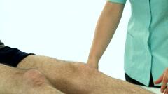 Leg rehabilitation exercises movie Stock Footage