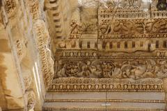 details of intricate carving and decoration - stock photo