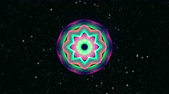 Colorful Kaleidoscopic Video Background Loop Stock Footage