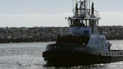Fisherman's boat heading back to dock Stock Footage
