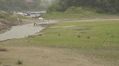 Beach, river Desna Stock Footage
