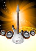 Vector music poster - stock illustration