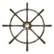Ships wheel Stock Illustration