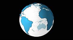 Cartoon Spinning Earth Globe Stock Footage