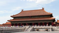 Palace museum at daytime. Qianqinggong HD Stock Footage