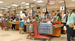 store place grocery ,at the cashier - stock footage