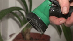 Hosepipe spraying water Stock Footage