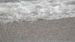 HD sea shore. Blue water blue sky. Sand, wave. Beach vacation. Summer holiday. Stock Footage