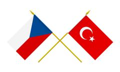 Stock Illustration of flags, czech republic and turkey