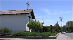 California Sonoma Mission Stock Footage