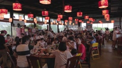Pan - popular Rueisuei restaurant with beautiful lanterns Stock Footage