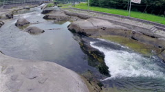 Aerial close up of rapids Stock Footage