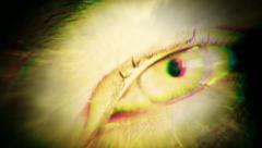 Eye macro alien scary - stock footage