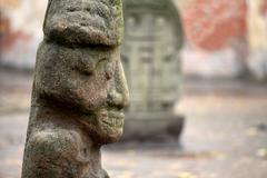 Stone aztec gods Stock Photos
