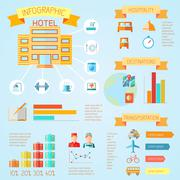 Hotel infographics - stock illustration