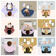 Business office workers Stock Illustration