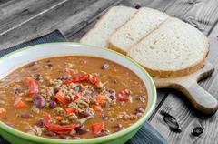 chilli con carne - stock photo
