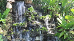 Little waterfall in natur gardent , Thailand - stock footage