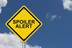 Spoiler alert warning sign Stock Illustration