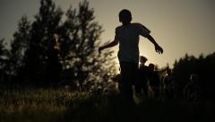 Kids running Stock Footage