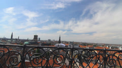 View of Rooftops from the Rundetarn in Downtown Copenhagen Stock Footage