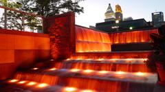 Fountains at Smale Riverfront Park - stock photo