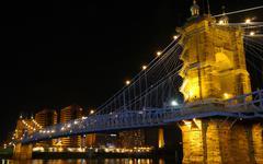 Stock Photo of John A Roebling Suspension Bridge