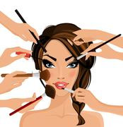 Make up concept - stock illustration