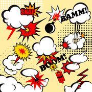 Comic bubles - stock illustration