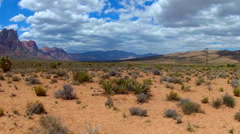 Wide Panoramic Shot Of Spring Mountain State Park- Nevada Stock Footage