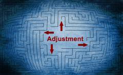 adjustment maze concept - stock illustration