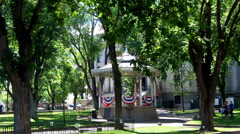 Historic Band Stand At Yavapai County Court House- Prescott AZ Stock Footage