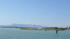 Coastline of greece island kos Stock Footage