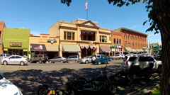 Historic District Whiskey Row- Downtown Prescott Arizona Stock Footage