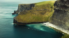 Northern Portion of The Cliffs of Moher, Ireland Stock Footage