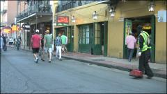 New Orleans French Quarter evening street sweeper 4k Stock Footage