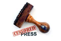 censored press - stock photo