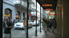 New Orleans French Quarter evening tourist takes photo 4k Stock Footage