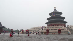 3-7 Temple of Heaven 13 The Hall of Prayer for Good Harvest S Stock Footage