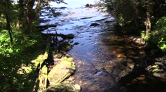 Lunch Creek, slow motion Stock Footage