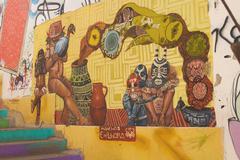 Murals of Valparaiso - stock photo